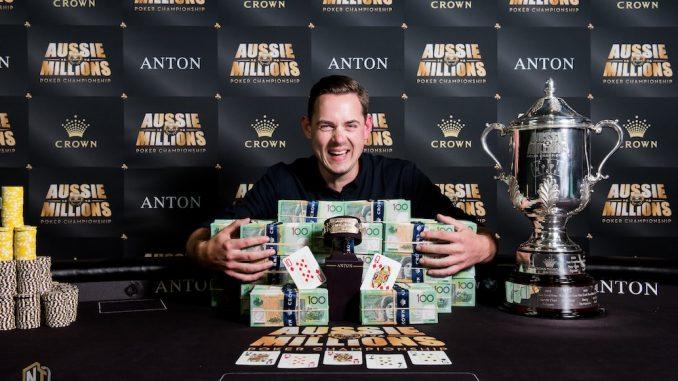 Toby Lewis 2018 Aussie Millions Main Event Champion